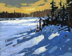 Mark Brennan, Painting The Wild Places: February 2009 Landscape Artwork, Watercolor Landscape, Abstract Landscape, Canadian Painters, Canadian Artists, Paintings I Love, Seascape Paintings, Painting Snow, Winter Landscape