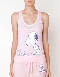 Camiseta doble Snoopy - Camisetas - Oysho & Friends - España