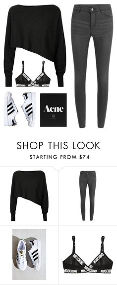"""Untitled #65"" by a-beee ❤ liked on Polyvore featuring Crea Concept, Cheap Monday, adidas and Moschino"