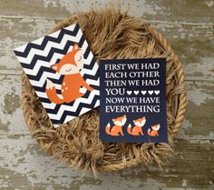 Two 2014 Nursery Trends Collide: Navy and Fox Accents - check out more adorable #nursery #wallart from @Lindsay Brodock in our Vendor Guide!