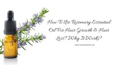 Hey Guys, Have you used rosemary essential oil for your hair? I am sure you must have heard that it helps with dandruff, hair growth, hair loss, regrowth Rosemary For Hair Growth, Rosemary Oil For Hair, Natural Hair Loss Treatment, Hair Growth Treatment, Hair Growth Cycle, Hair Growth Tips, Oil For Hair Loss, Essential Oils For Hair, Dandruff