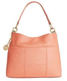 Tommy Hilfiger TH Signature Leather Small Hobo   macys.com Hobo Handbags,  Shoulder Handbags f6892a6622