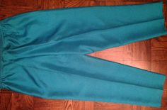 New Anne Carson 100% Silk Exotic Peacock Blue Dress Pants Fully Lined, Size 10 $14.99  eBay