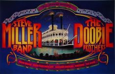 Rock Posters, Band Posters, Mgm Grand Las Vegas, The Doobie Brothers, Steve Miller Band, Mgm Grand Garden Arena, Vintage Concert Posters, Best Rock, Sound Of Music