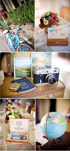 travel themed rehearsal dinner....please someone do this and let me help you decorate!