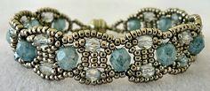 Linda's Crafty Inspirations: Bracelet of the Day: Canterbury - Stone Blue