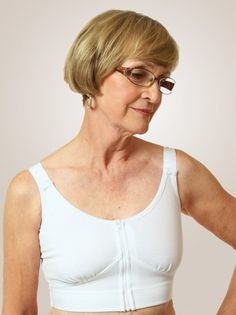 edbc088969 The Compression Bra by Wear Ease ® is designed for gentle compression all  around the torso for women with post-surgical discomfort or chest or breast  ...
