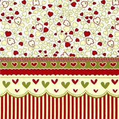 white Michael Miller fabric with stripes, hearts & flowers