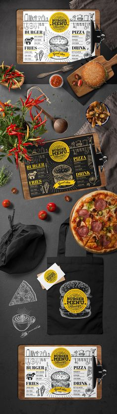 Burger Food Menu Template by BarcelonaShop on @creativemarket