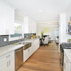 c51d38ef0 Flip or Flop  Unique Use of Space in White Modern Kitchen Galley Kitchen  Remodel