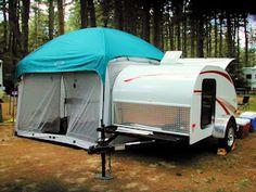 teardrop campers - Side tent