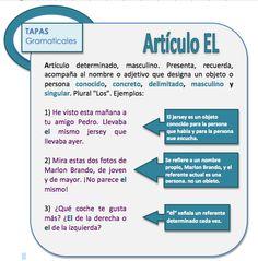 Artículo EL Learn Spanish / Spanish vocabulary / Spanish grammar