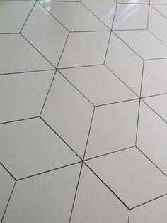Flooring at Crown, Melb.  Porcelain tile Geometric design - common theme throughout Crown