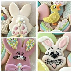 Delorse McCallum Sword: Easter cookies. I really love that bunny face!!!
