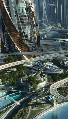 Science fiction ships future city ideas for 2019 Fantasy City, 3d Fantasy, Fantasy Landscape, Futuristic City, Futuristic Architecture, Amazing Architecture, City Architecture, Futuristic Technology, Futuristic Design