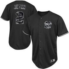 cd46430d4cf Majestic Derek Jeter New York Yankees Fashion Replica Jersey – Black Camo  Yankees Gear
