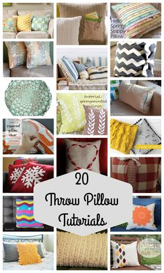 I thought I would share 20 inspirational ideas for one of my favorite projects today. Throw Pillows! I've made several over the years, such an easy project, perfect for holidays, and great for an easy pick-me-up in my living room. I can't change my couch all the time, but I can change my throw pillows. …