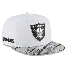 3734a9b37d2 OAKLAND RAIDERS 2016 NEW ERA 9FIFTY WHITE COLOR RUSH ON FIELD SNAPBACK HAT  CAP