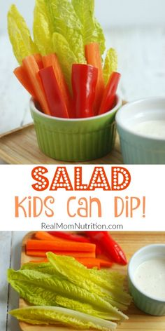 Dippable Salad For Kids - Real Mom Nutrition
