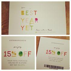 2013 Birthday Discount #anthropologie