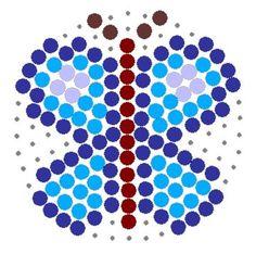 Blue Butterfly Perler Bead Pattern