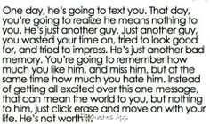 He's not worth it #quote