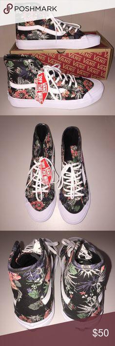 NWT Vans Black Ball Hi SF Desert Floral Pretty all over floral print.  Very unique cactus desert flowers🌵💐. Vans Shoes Sneakers