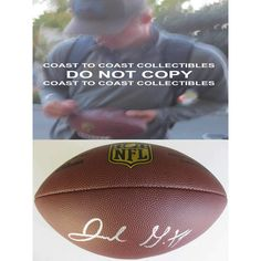 Jared Goff, Los Angeles Rams, LA Rams, California Golden Bears, Cal Bears, Signed, Autographed, NFL Duke Football, a COA with the Proof Photo of Jared Signing the Football Will Be Included