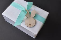 5 x Easter bunny gift tags plywood laser cut by ByCharlie on Etsy https://www.etsy.com/listing/226276105/5-x-easter-bunny-gift-tags-plywood-laser
