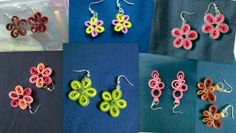 Quilled Floret Earring #paper_craft #jewelry #flower