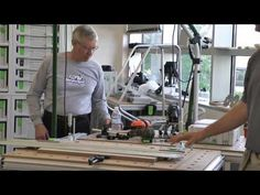 Festool parallel guide and LR32 guide rail used as a jig for 32mm panels - YouTube