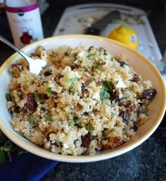 Mediterranean Quinoa with Almonds, Dates and Feta & Kitchen Renovation