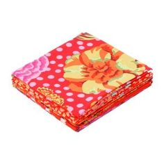 Kaffe Fassett Red 2 Fat Quarter Pack 5pce  image Textile Artists, Fat Quarters, Textiles, Quilts, Sewing, Tableware, Red, Fabrics, Image