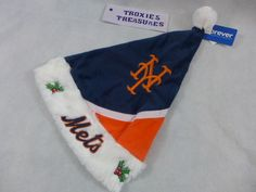 93509f757aee95 New York Mets Santa Hat Christmas Plush Genuine MLB League Merchandise Tags  #Mets New York
