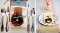 bird nest place settings, love bird table setting,  whimsical wedding decor, outdoor wedding decor,Love Bird Wedding theme, DIY Ideas, DIY Love Bird sign, Wedding Trends 2013, bird nest centerpieces,paper bird garland, birdcage card holder, birdhouse favors, bird theme for weddings, Art Deco Gal