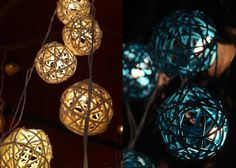 String ball lights  from Illuminate the Night: 7 Eco-Friendly Lighting Options | Green Bride Guide