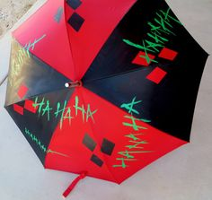 Crazy Love-Harley/Mr. J-Inspired Umbrella by CassaRaptorCreations