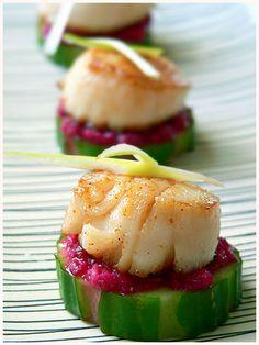 Scallop Horseradish Finger Food — Amuse bouche à la coquille St Jacques et au raifort   La Tartine Gourmande