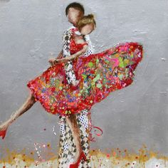 It-Takes-Two-to-Tango by Kim Schuessler Create Collage, Collage Art, Illustrations, Illustration Art, Tango, Dance Paintings, Art Themes, Wedding Art, Whimsical Art