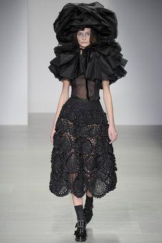 rocha crochet skirt New Crochet on the Runway from John Rocha (Autumn/Winter 2014 Fashion Week)