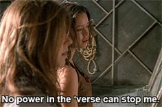 "Firefly: ""No power in the 'verse can stop me"" From  movie/tv-series Serenity/Firefly. River played by Summer Glau."