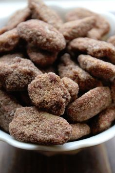 Crock Pot Cinnamon Pecans.