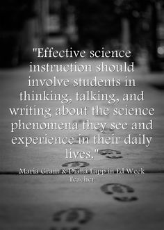 Effective science instruction