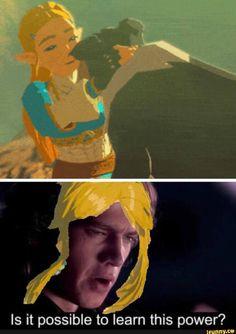 [BotW] We need this The Legend Of Zelda, Legend Of Zelda Memes, Legend Of Zelda Breath, Pokemon Mew, Zelda Hyrule Warriors, Botw Zelda, Link Art, Link Zelda, Nintendo