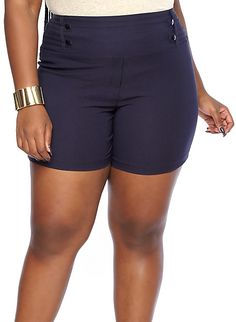 Plus-Size High-Waisted Shorts