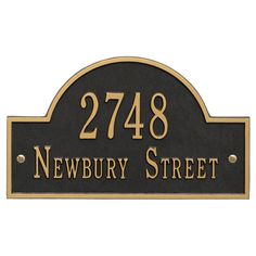acrylic engraved inscription, House number with street name plaque