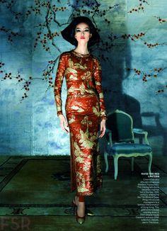 Fei Fei Sun encanta nos cliques de Steven Meisel para a Vogue US Maio 2015 [Couture]