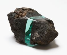 Ramon Todo | Volcanic Bomb of Mt. Asama, volcanic rock, glass, 13 × 27 × 20 cm
