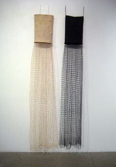 Ann Coddington Rast sisters 2011, twined linen, hand knotted netting