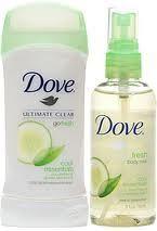 Whatever smells good, Dove Ultimate Go Fresh Women Anti Perspirant Deodorant & Body Mist Cucumber Mint $12.99